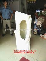 Guangzhou make big artificial fibre glass tree house /fake tree trunk with hole for Christmas decoration
