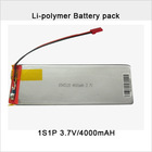 Rechargeable 3.7V 4000mAh Li-Po battery pack