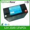 2014cheap electric golf carts 12V20AH LiFePO4 12v li-ion battery