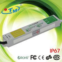 voltage transformer 240v 12v, ip67 waterproof constant voltage 1500ma 12v 20w led power supply with CE,FCC