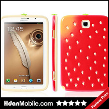 Silicon +PC Skin Cover Case For Samsung Galaxy N5100 Strawberry Cute Tablet Case