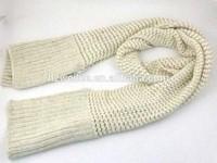 WLCW-8 80%Acrylic &20% Nylon basket lurex knitted modlish winter scarf muffler