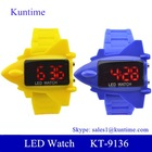 jelly pilot led watch with quality plastic case silicone band stainless steel back