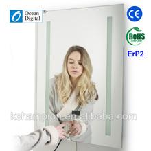 DAB Mirror Bluetooth waterproof bathroom clock