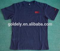 Round sleeve blank velvet men t shirts wholesale