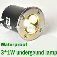 Waterpoof 3W AC85-220V DC12V Mini LED step light LED underground light/underwater light LED Garden Underground landscape Buried
