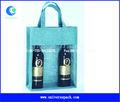 Azul a granel reutilizable vino bolsas de mano