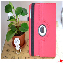 High class tablet PC case pen holder 360 degree rotation tablet PU leather case for ipad mini