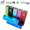 The thinnest polymer lithium battery 2600mah color barwell experienced outport power bank