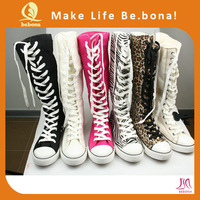 2014 high top ladies colorful canvas sneakers factory