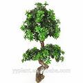 0586 estilo antiguo de madera de la pared de la decoración del árbol topiario