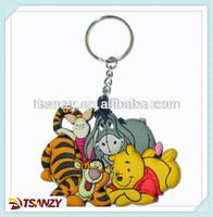 PVC cartoon keychain/key ring/ key tags