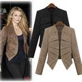패션 봄 가을 새로운 유럽 미국 여성의 플러스 사이즈 스웨이드 가죽 자켓 짧은 코트 sv000743#