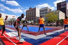 2014 Hot slae Popular Multi-use Excellent modular tile suspended Indoor PP Iterlocking Sports Futsal Flooring