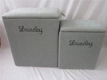 wooden storage bins seat stool laundry bins