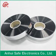 2015 Al Zn alloy metallized bopp film for making cbb60 capacitor Thickness 5um Width 35mm Margin 1.0mm
