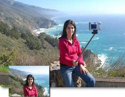 Extentable Bluetooth handheld selfie stick gopro telescoping pole