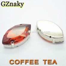 7x15mm Coffee Tea Navette sew on glass for rhinestone headbands wholesale