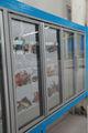 Porte en verre congélateur commercial 2014 populaire./vertical congélateur d'affichage pour le supermarché