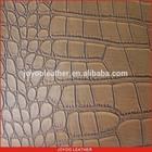 2014 new pvc fabric for sofa, crocodile grain pvc leather, sofa material rexine leather upholstery fabric