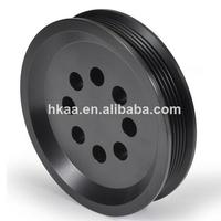 custom black anodized v belt pulley sizes,large v belt pulley,v belt pulley material