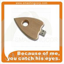 Wooden Heart usb drives / usb flash sticks with keyhole