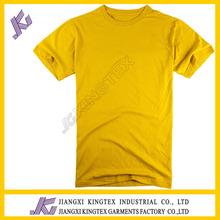 fashion single jersey cheap men's t-shirts/wholesale tshirts blank in bulk production/2014 men's yellow t shirts