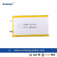 Cheap price high quality 2800mah li ion battery , 2800mAh 3.7v tablet pc battery