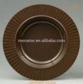 Wolesale melamina placa de metal / bolo plate / placa louça para restaurante