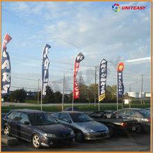 Custom light up banner flying&aluminum flagpole