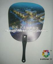 plastic hand fan, promotion pp hand fan, plastic fan with handle