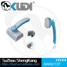 Self-clean dog pin brush ,pet retractable brush AWAC137