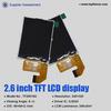 Custom size 2.6'' tft round lcd display with 8 bit MCU