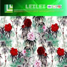 Faddish Flowers Digital Printing Fabric Organic Cotton