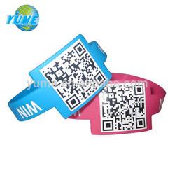 Fashion Dimensional Barcode Wristband Silicon Bracelet 202*30*2mm