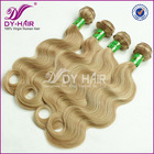 Hot fashion hair extensions for white women color 27/613# blonde remy hair for weaving