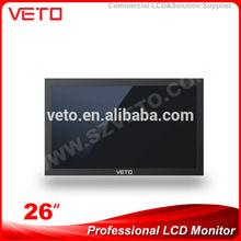 26 inch Shenzhen VETO 1080P HD high resolution Professional TFT LCD CCTV Monitor with SDI HDMI VGA DVI BNC Input