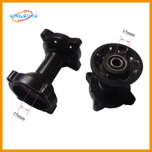 Black simple style dirt bike motorcycle rear wheel hub