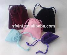 mini velvet drawstring bag