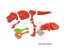 Plastic Dinosaur Skeleton Mold Sand Beach Toy With Shovels