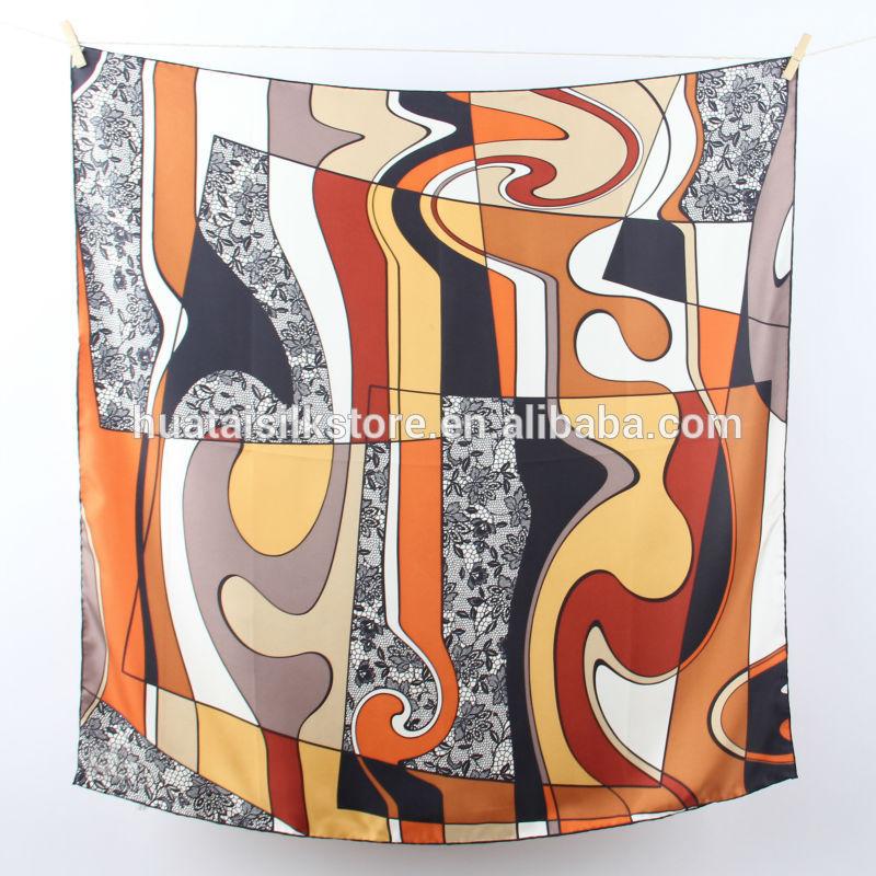 Hand Printed 100 Silk Scarves