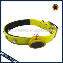 Newest waterproof nylon webbing coated TPU dog collar with LED light