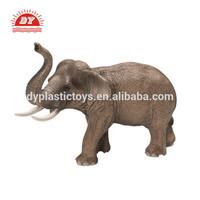 ICTI certificated custom make hard plastic wild animal elephant toy for kids