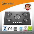 Mgbg- 875 vidro 5 queimador de gás de cerâmica fotos para cozinha