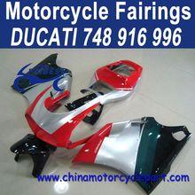 Popular Design For Ducati 748 916 996 ABS Motorcycle Fairing Set Silver Tri-Color FFKDU001