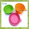 G-2014 New arrival multi-function camping silicone bowl with cover silicone collapsible travel bowl with cover