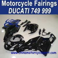 2003-2004 For Ducati 749 999 Aftermarket Motorcycle Fairings Black Silver Decals FFKDU002