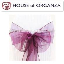 2014 Beautiful High Quality Wedding Organza Chair Sash for Chair Cover