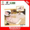 Foldable pink princess indoor dog house bed