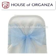 2014 Beautiful Wedding Organza Chair Sash for Chair Cover Light Blue